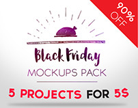Black Friday Mockups Pack