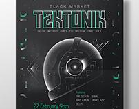 """Black Market """"Tektonik"""" Gig Posters"""