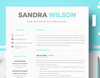 Creative Resume template for Pages & Microsoft Word