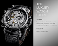 The Luxury Watch Store - Web UI/UX