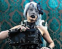 Rhinestone Mask High Fashion Odd Shoot
