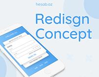 Concept design for hesab.az - online payment.
