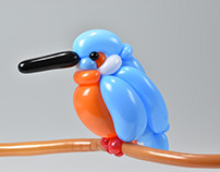 kingfisher (balloon art)