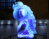 Hello Kongzi in NYC 360 Projection Mapping 大型新媒體互動展無縫投影