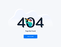 Design for 404 Error.