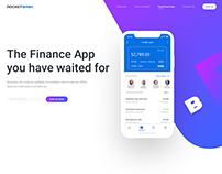 Landing Page. New Finance (banking) App - PocketBank