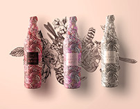 Le Jardin Tattoo Wine Packaging
