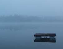 Landscape Photography: summer morning lake fog