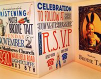 Brodie Tait christening invites