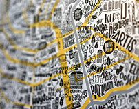 Great places of Amsterdam - Illustrated map