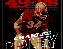 2015 49ERS GAMEDAY MAGAZINE COVERS