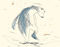 La danse mélancolique de l'ours - Illustration libre