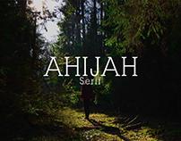 Ahijah - Free Serif Font