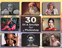 30 Oil & Smudge Paint | Photoshop
