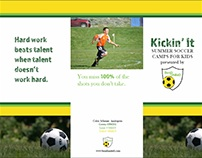 Offset Tri-fold, Full-Bleed Soccer Camp Brochure Design