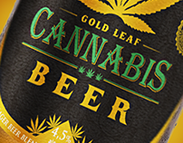 Gold Leaf brand - Cannabis beer