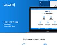 Redesign desktop app