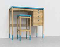 Vantage High Desk and Stool