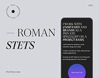 Roman Stets — website design