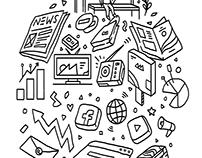 Doodle Illustrations (Wacom Intuos)