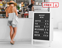 Free Restaurant Stand Mockup