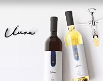 Iura Wine Bottle Label + Logo