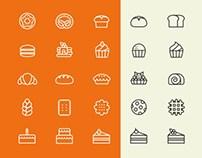 Free Bakery Icon Set (Illustrator)