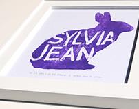 Sylvia Jean Block Print