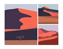 Namibia Desert | Illustration series
