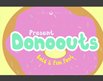 Donoouts bold and fun font - free font