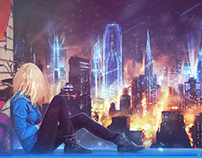 Loneliness in the city Speed art