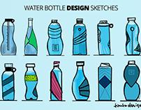 Water Bottle Design Sketches