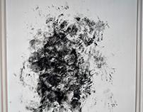 Serie: sin título Figura humana a través de la mancha