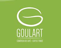 Logotipo e identidade visual Goulart Comércio de Café