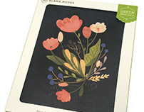 Floral Note Cards with Compendium for Target