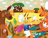 The colorful kangaroos