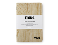 MIUS Wooden Notebook - Walnut