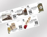 Flyer und Sticker für das DEUTSCHES HISTORISCHES MUSEUM