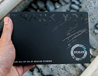 Custom Black Metal Thank You Card