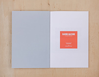 """Baring machine"" Documentation book"