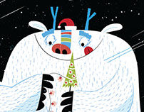 George, the Christmas Yeti Greeting Card