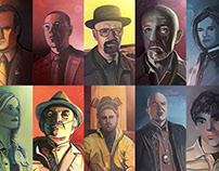 Breaking Bad Character Portraits