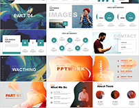 4 in 1 annual report PowerPoint template