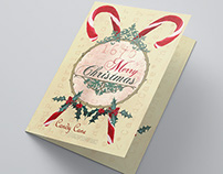 Candy Cane Greeting Cards