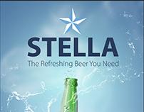 Stella Beer Ad. Options
