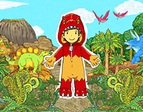 Children's Animation MusicVideo「きょうりゅうかくれんぼ」