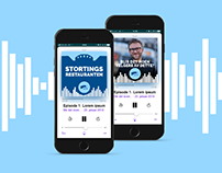 Visuals for a range of Podcast in iTunes UX