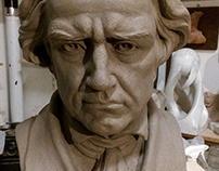 Ludwig Van Beethoven argilla modellata