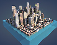 Dubai Tourism - 3D model projection