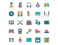 Disc Jokey Icons set